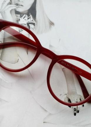 Имиджевые очки  круглые с  прозрачной линзой коричневый