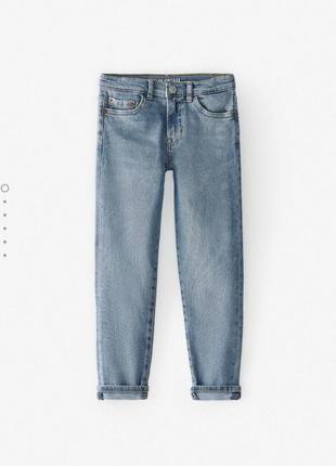 Стильные голубые джинсы скинни zara 11-12 лет