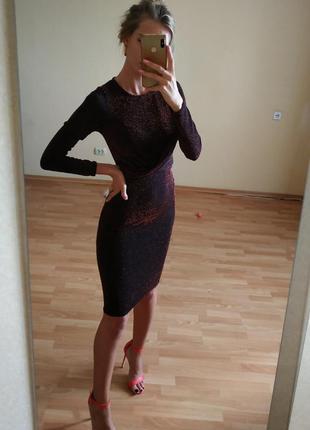 Платье с люрексной ниткой