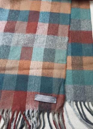 Стильный брендовый шарф . rocha john rocha. шарф в клетку