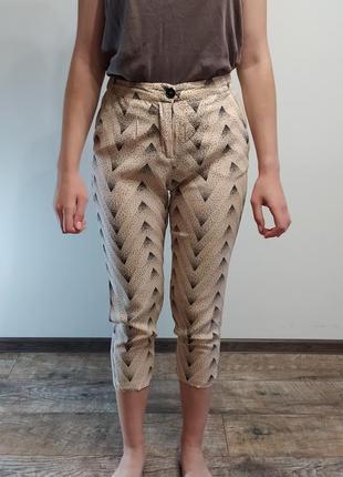 Укорочені штані з високою посадкою selected/укороченные штаны с высокой посадкой selected