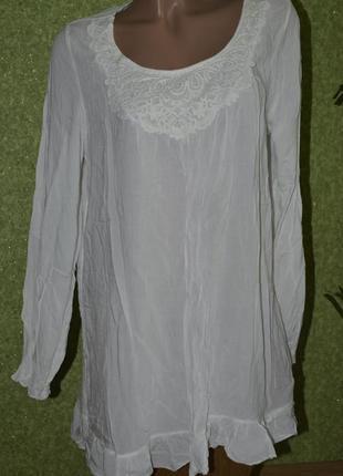 Легкая невесомая  котоновая итальянская блуза