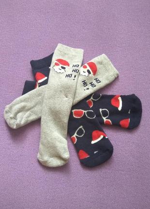 Носки новогодние новорічні шкарпетки lupilu махровые 31/34