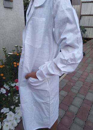 Халат рабочий белый.халаты предназначены для школьников и студентов.