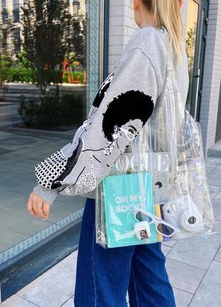 Прозрачный шоппер