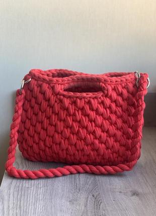 Вязанная сумка , кошелка