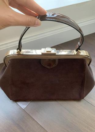 Замшевая/кожаная сумка