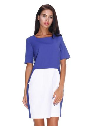 Очень красивое сине-белое платье размер 36 от mohito
