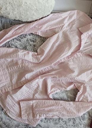 Рубашка h&m нежно-розовая, красивая блуза h&m розовая