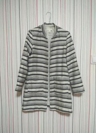 Стильный жакет пиджак h&m 38/8,кардиган полосатый,пальто осеннее осень