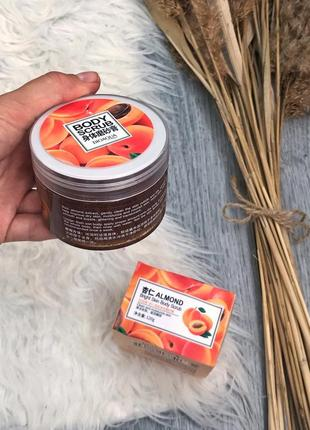 Новый скраб для тела с маслом миндаля bioaqua almond bright skin body scrub