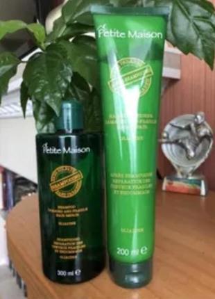 Безсульфатный набор против выпадения волос petite maison шампунь и кондиционер юнайс