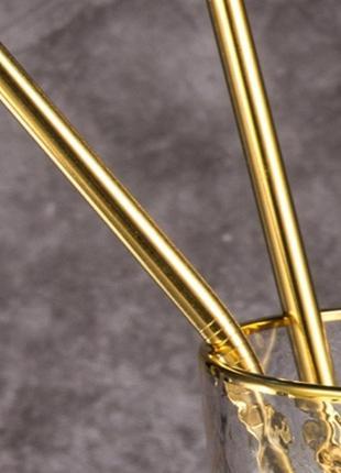 Трубочки 4 шт 🍸 соломинка для напитков столовые приборы нержавеющая сталь
