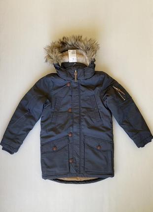 Зимняя куртка-парка c капюшоном h&m