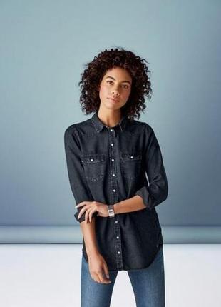 Женская рубашка под джинс 100% лиоцель esmara 36