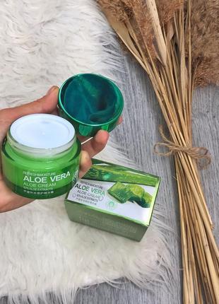 Крем для лица с алоэ вера  увлажняющий 92% bioaqua aloe vera cream - 50 г