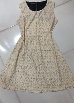 Милое золотое платье