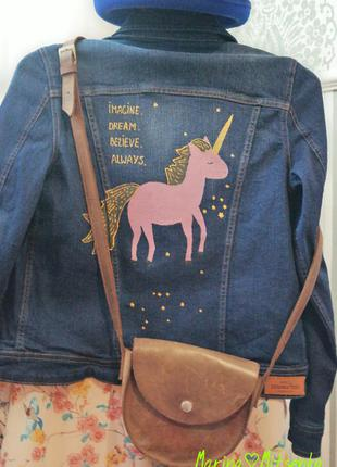 Нова омріяна казкова джинсова куртка hand made з авторським розписом mango