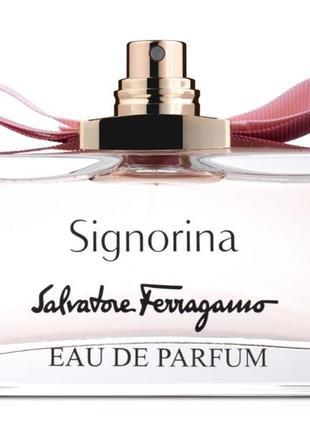 Salvatore ferragamo signorina 100мл парф.вода оригинал тестер
