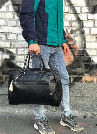 Дорожная сумка david jones black чемодан черный