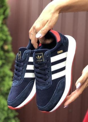 Adidas iniki (тёмно синие с белым)