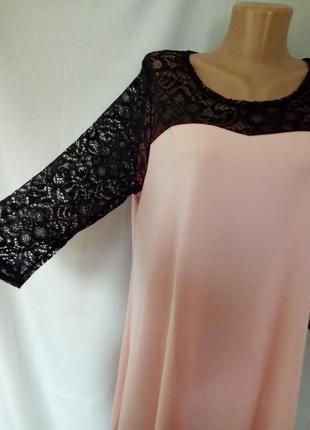 Платье ткань про-ва турции креп-дайвинг, гипюр.