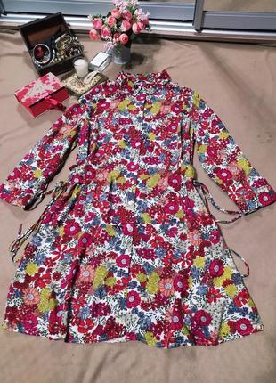 Платье-халат в цветах