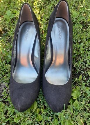 Туфли еко замша