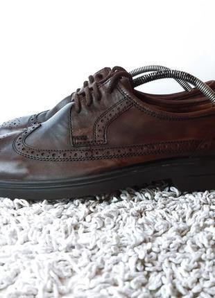 Туфли броги оксфорды feonix размер 45 стелька 29.5 см