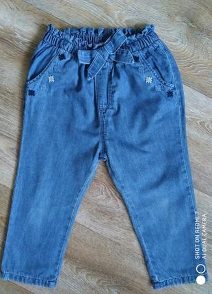 Стильные брючки zara джинсы