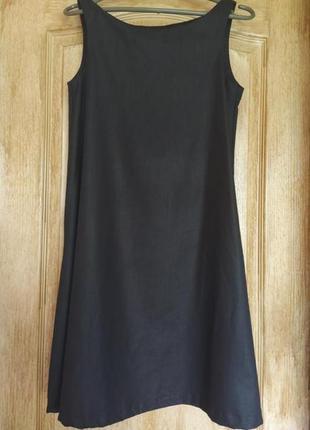 Чёрное платье свободного кроя , трапеция