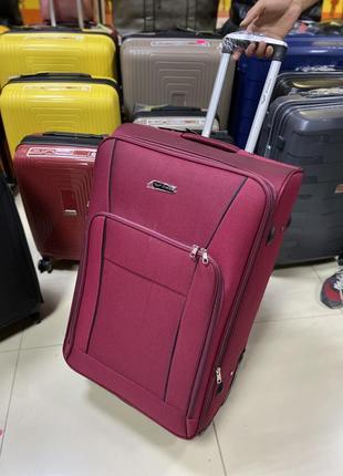 Большой чемодан l wings тканевый на 4 колеса
