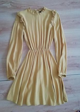 Очень крутое желтое платье