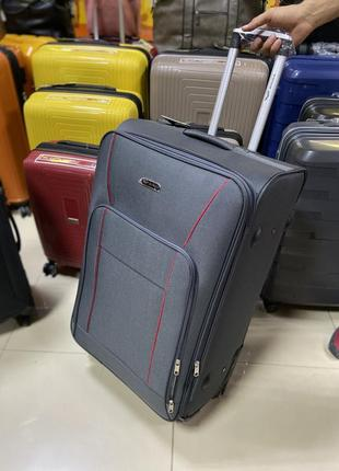 Большой чемодан wings тканевый 4 колеса