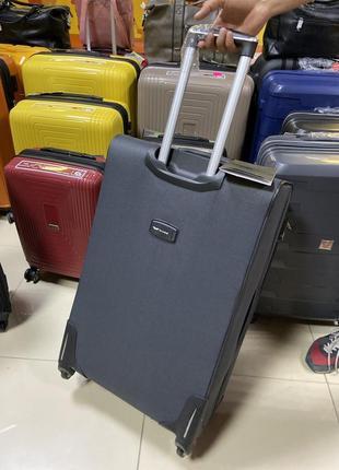 Большой чемодан wings тканевый 4 колеса2 фото