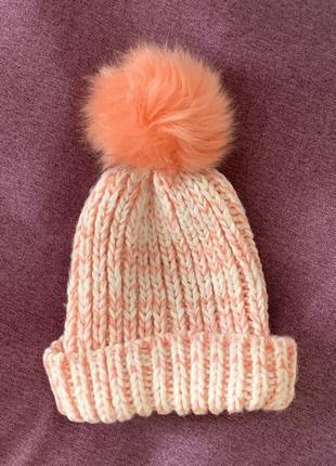 Вязаная шапка на зиму ❄️