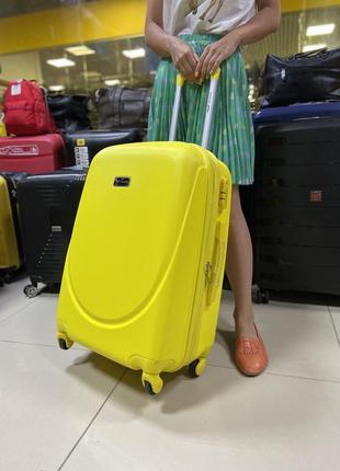 Чемодан ручная кладь wings 310 желтый1 фото