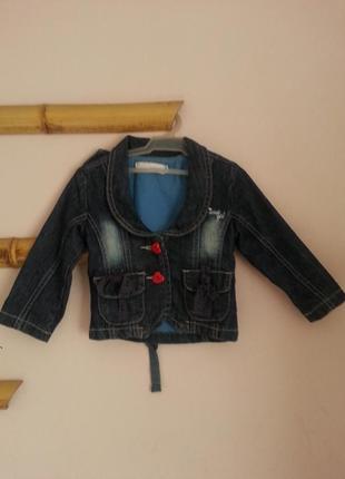 Джинсовая курточка на девочку 18-24 месяцев