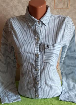 Стильная рубашка в разноцветную полоску abercrombie & fitch