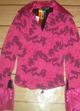 Женская рубашка-блуза с объёмным эффектом.club donna турция 42-44-й.