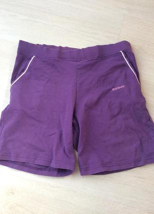 Спортивные фиолетовые розовые шорты рибок reebok