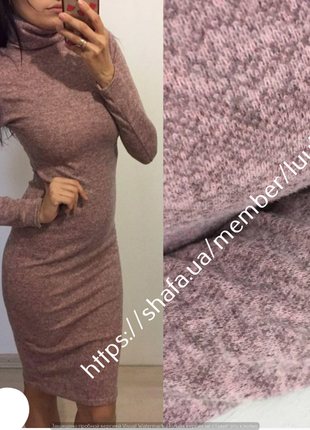 Платье-гольф из ангоры 42-44-46-48-50-52-54 большие размеры