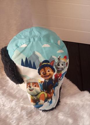 Зимняя теплая шапка ушанка щенячий патруль 1-3 года