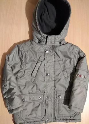 Детская куртка на мальчика сезон осень-зима на рост 104 см. бренда impidimpi