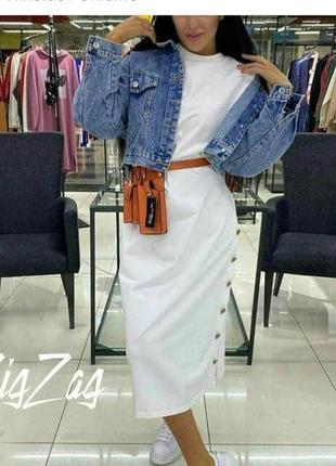Стильное трендовое платье миди