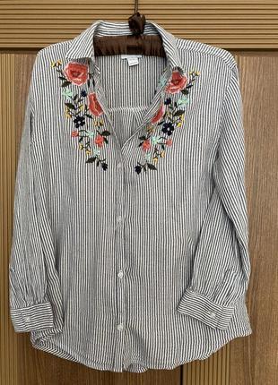 Стильная блузка рубашка old navy на девочку, р. xl, 14 лет