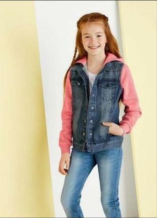 Джинсовая куртка на девочку lupilu,германия.