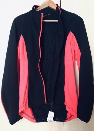 Акция. яркая термо куртка с покрытием софтшел для велоспорта, велопрогулок