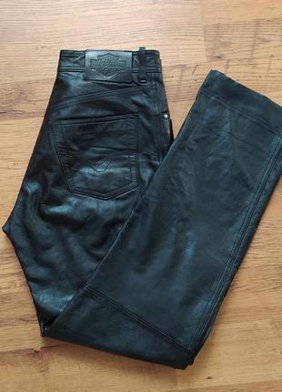 Harley davidson оригинал кожаные штаны для езды на мотоцикле размер m