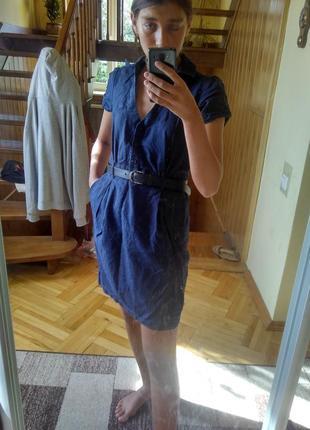 Льняное платье льонове плаття mango basics